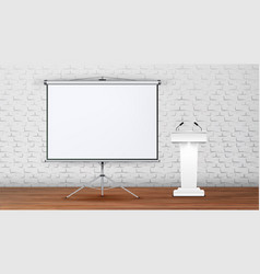 Interior modern boardroom for lecture vector
