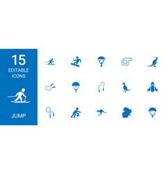 Jump icons vector
