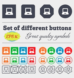 Laptop icon sign Big set of colorful diverse vector image
