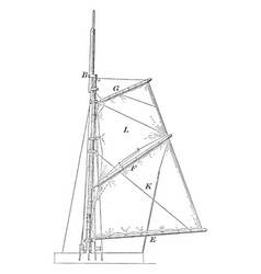 Lift sail areas including wave resistance vintage vector