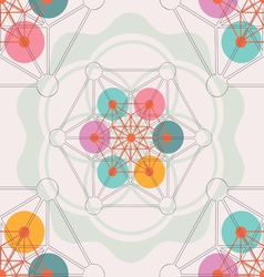 lotus geometry seamless pattern vector image