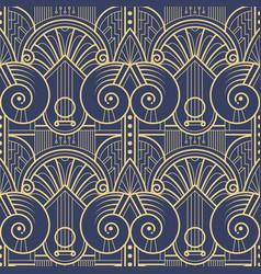 Modern geometric tiles pattern art deco seamless vector