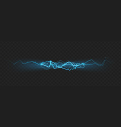 Nature force effect of powerful charge lightning vector