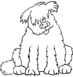 newfoundland dog cartoon for coloring book vector image vector image