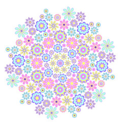 Pastel big flower vector