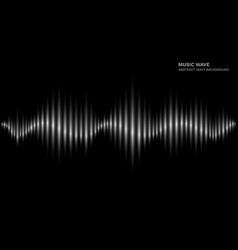 radio wave black and white sound dynamic waveform vector image
