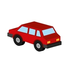 Red car coupe icon design vector