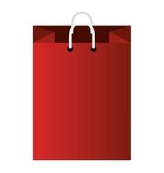 Red shopping bag icon isolated vector