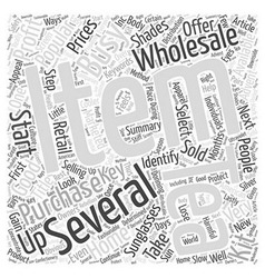 Retail As A Home Business Word Cloud Concept vector