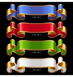 Ribbons set 13 vector image