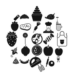ripeness icons set simple style vector image