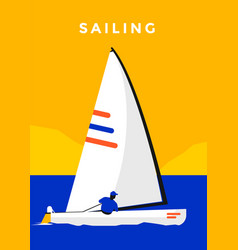 Sailing sport poster vector