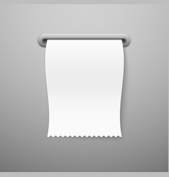 Sale receipt blank paper check template print vector