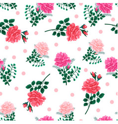Seamless pattern with roses-01 vector