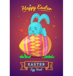 Set of Easter characters cute cartoons vector image