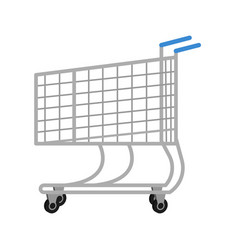 Shopping trolley for icons in flat style trolley vector