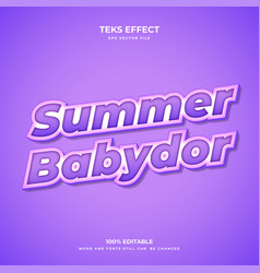 summer bador vector image