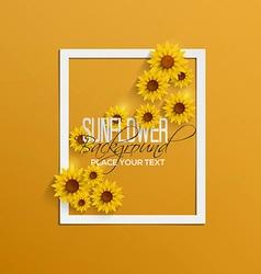 Sunflower background 2 vector