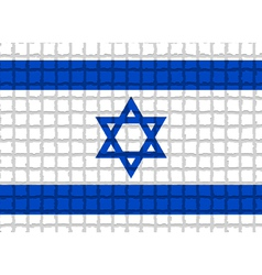 The mosaic flag of Israel vector