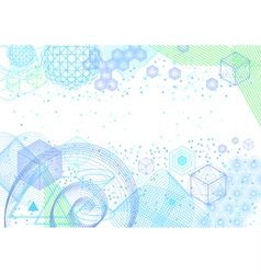 The science and mathematics abstract background vector image