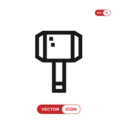 thor hammer icon hammer symbol vector image