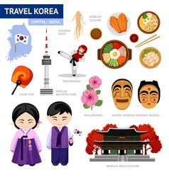 Travel to korea vector