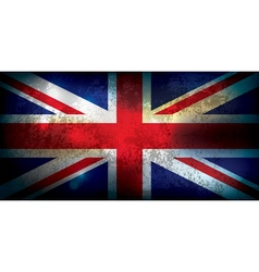 Union Jack United Kingdom Flag Grunge vector