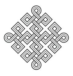 viking decorative knot - squares ring corners vector image