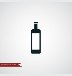wine bottle icon simple vector image