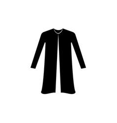 Woman coat cardigan icon vector