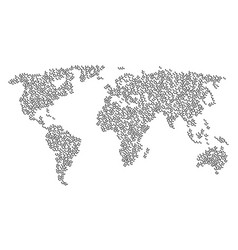 World map pattern of call items vector
