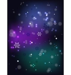 Christmas snowfall on a dark base EPS10 vector image vector image