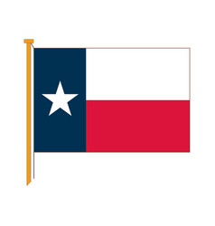 detailed reproduction of the official flag texas vector image