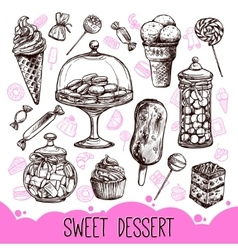 Sweet Dessert Set vector image