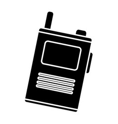 Walkie talkie device icon vector
