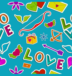 beautiful love seamless pattern vector image vector image