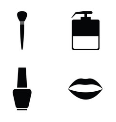 beauty icon set vector image