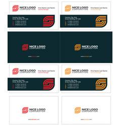 Business card internet service provider vector