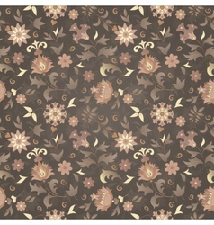 retro flower seamless vector image vector image