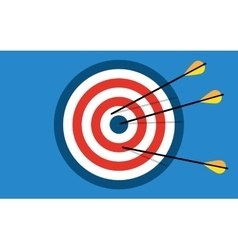 Target with 3 arrows vector
