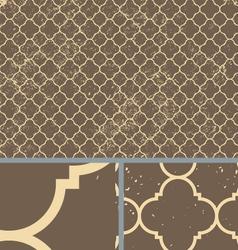 Vintage Brown Worn Seamless Pattern Background vector image vector image