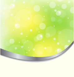 Abstract eco background light green vector image