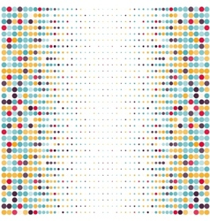 Background with the colored dotted circles in a vector image