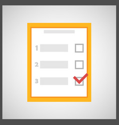 checklist survey icon vector image