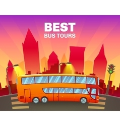 Colorful travel poster vector