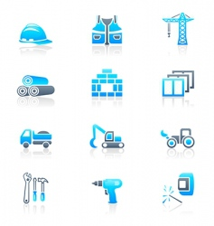 construction icons marine series vector image