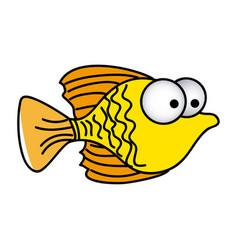 happy fish cartoon icon vector image vector image