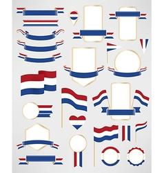 Netherlands flag decoration elements vector image vector image