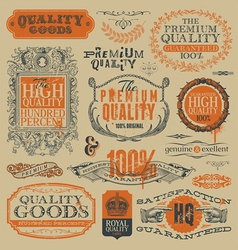 vintage emblems and labels vector image vector image