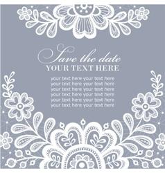 White lace design vector image